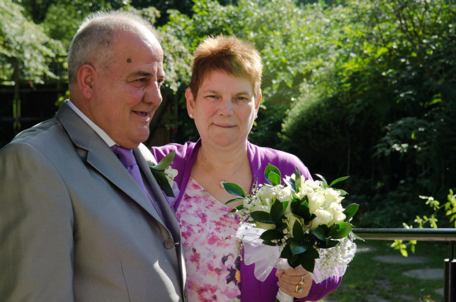 Just married: Bob and Susan Evans