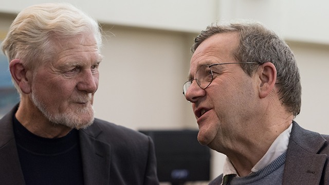 Kairos Community Trust co-founder Fr John Kitchen with trustee Gerald Barry