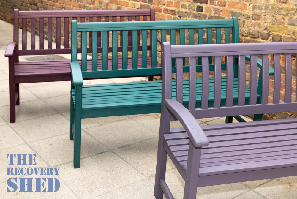 Kairos benches restored by the Recovery Shed project