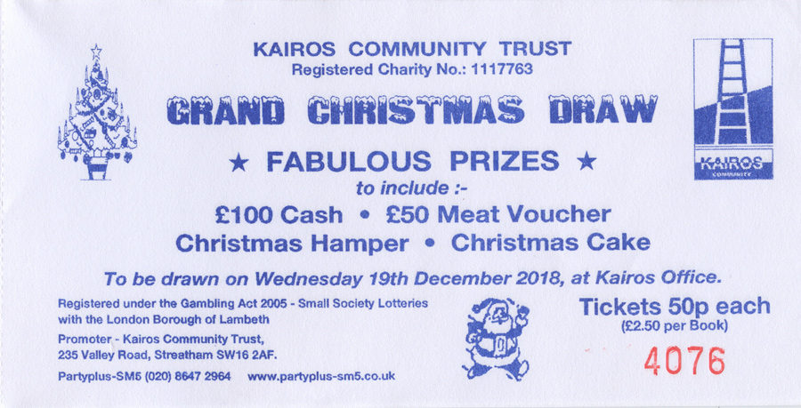 Kairos Christmas raffle draw