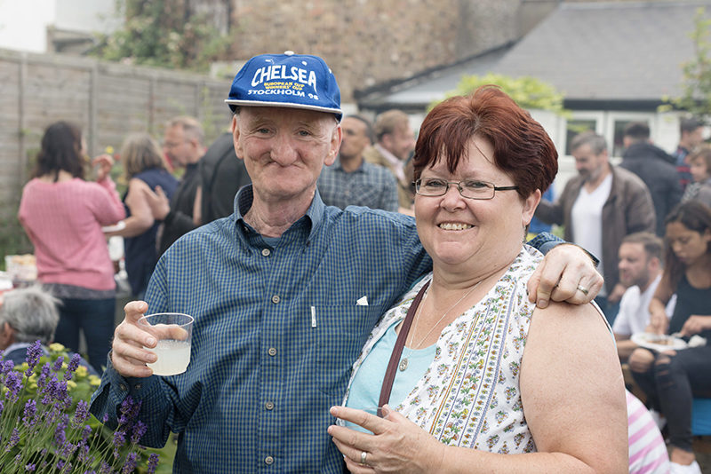 Kairos community stalwarts: Paddy and Helen Ryan at the Garden Day Programme's BBQ, 2017.