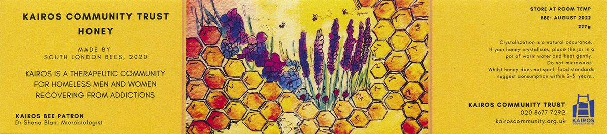 w Kairos honey label