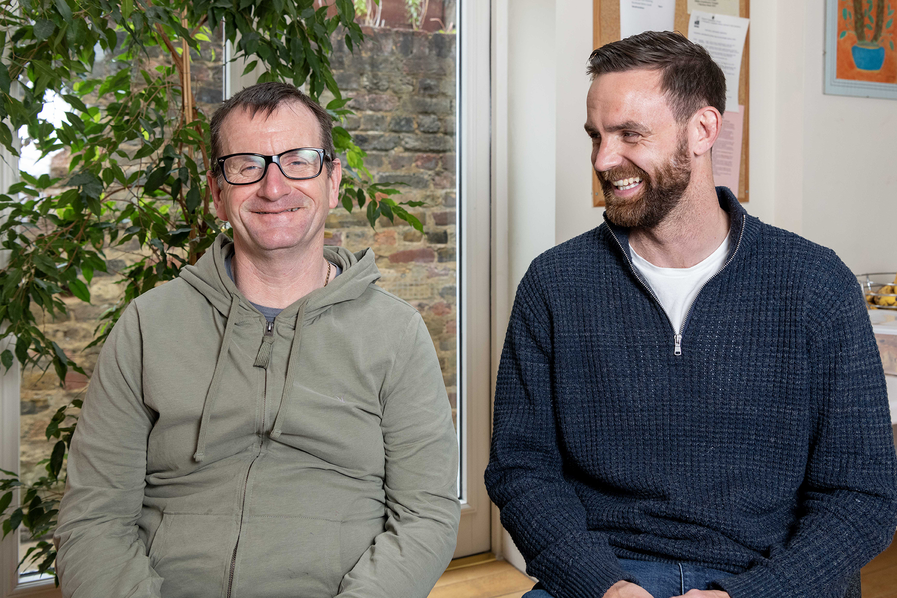New faces at Linden Grove: support workers Mick McCulloch and Danny Cruse