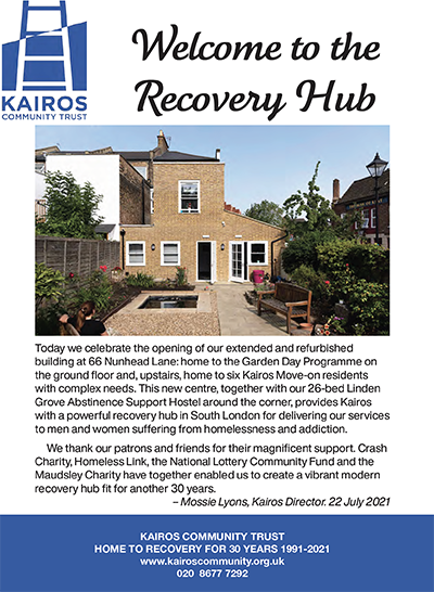 • Download our Recovery Hub brochure.